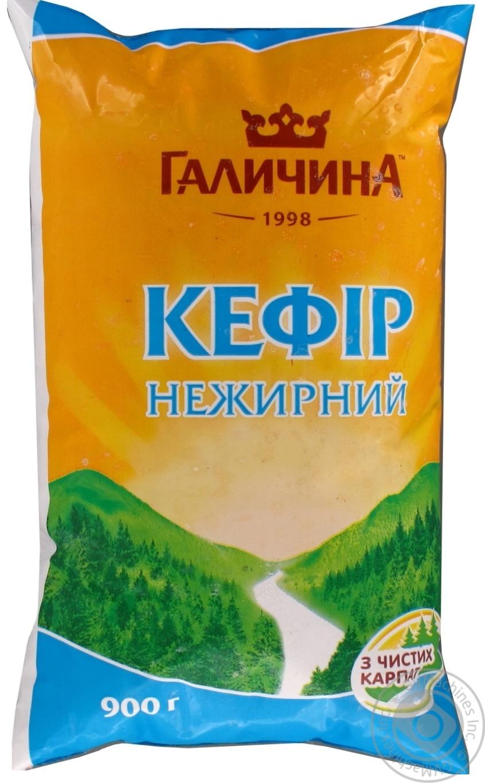 Купить Кефир Галичина нежирный 900г