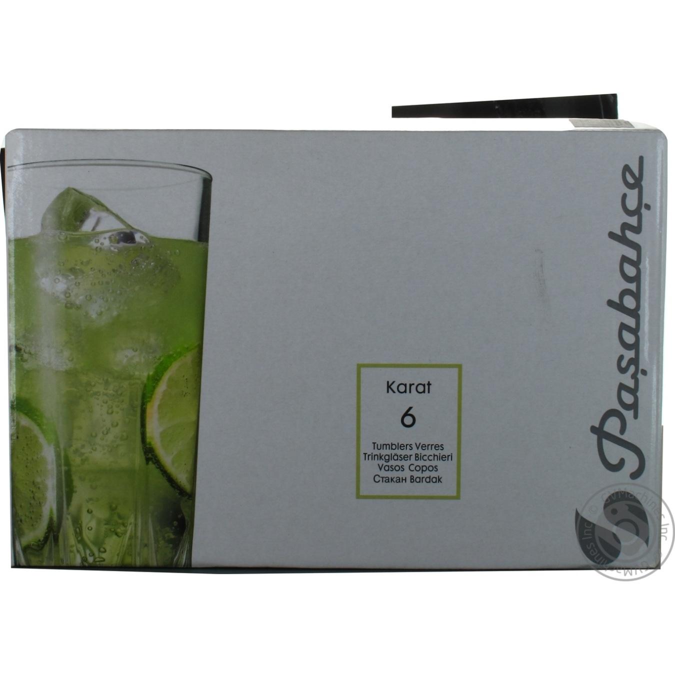 Купить Набор стаканов Pasabahce Karat 6шт 335мл
