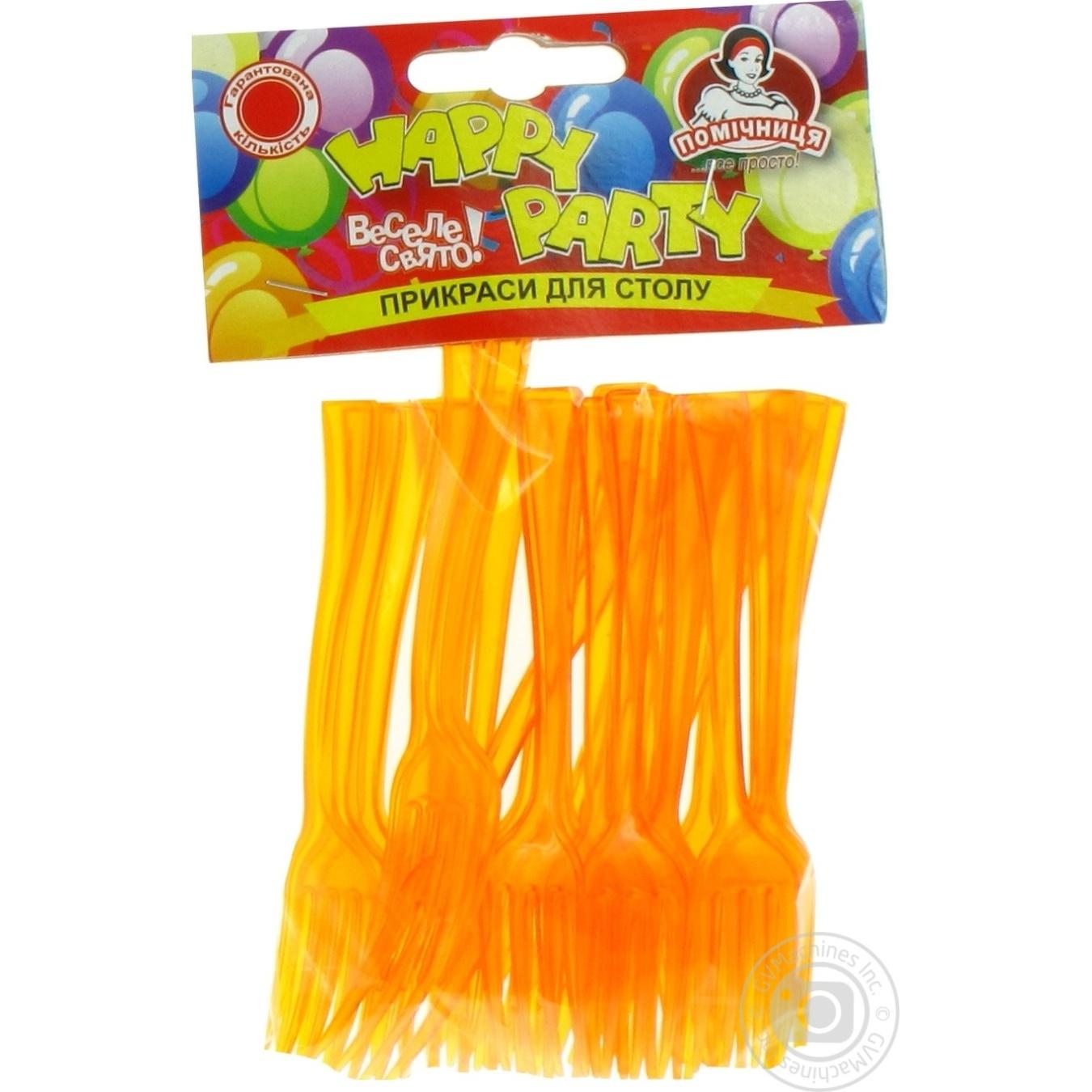 Купить Вилка для фруктов Помощница Happy Party 25шт