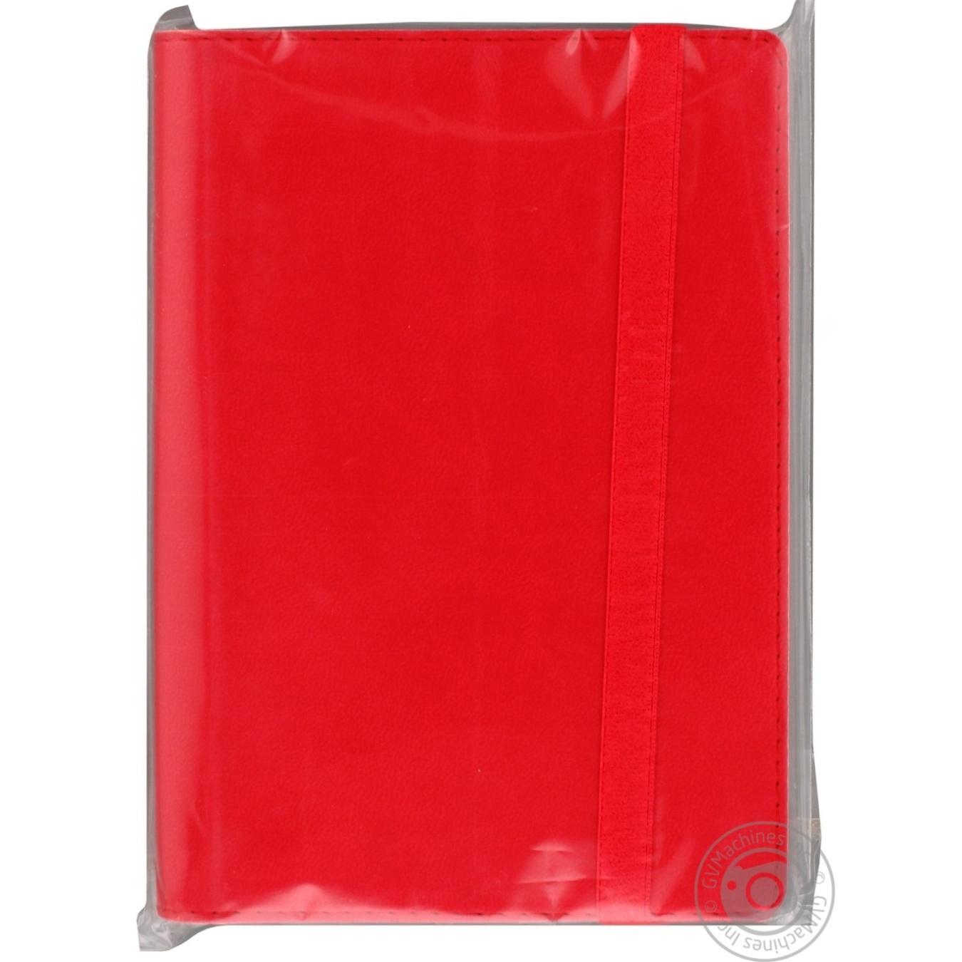 Купить Деловой блокнот Optima А6 на резинке красный