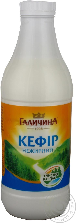 Купить Кефир Галичина нежирный пастеризованный 0.05% 870г