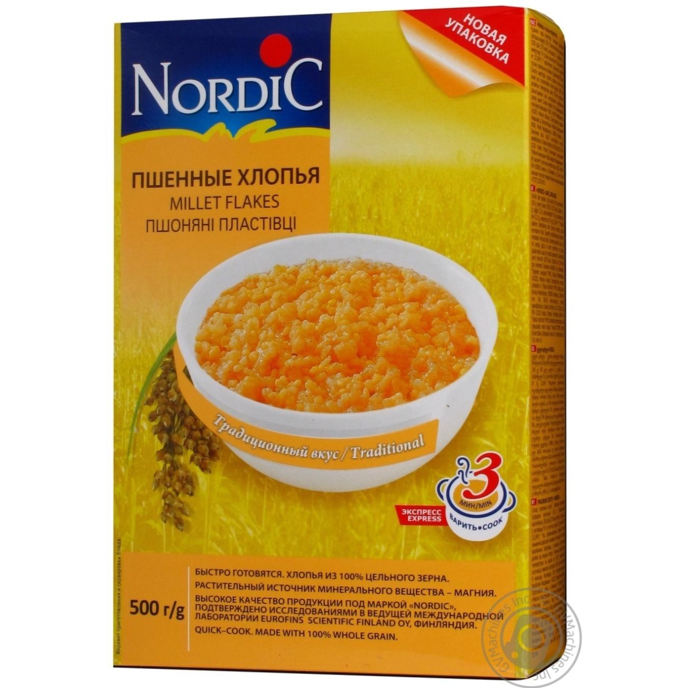 Купить Хлопья Nordic пшеничные 500г