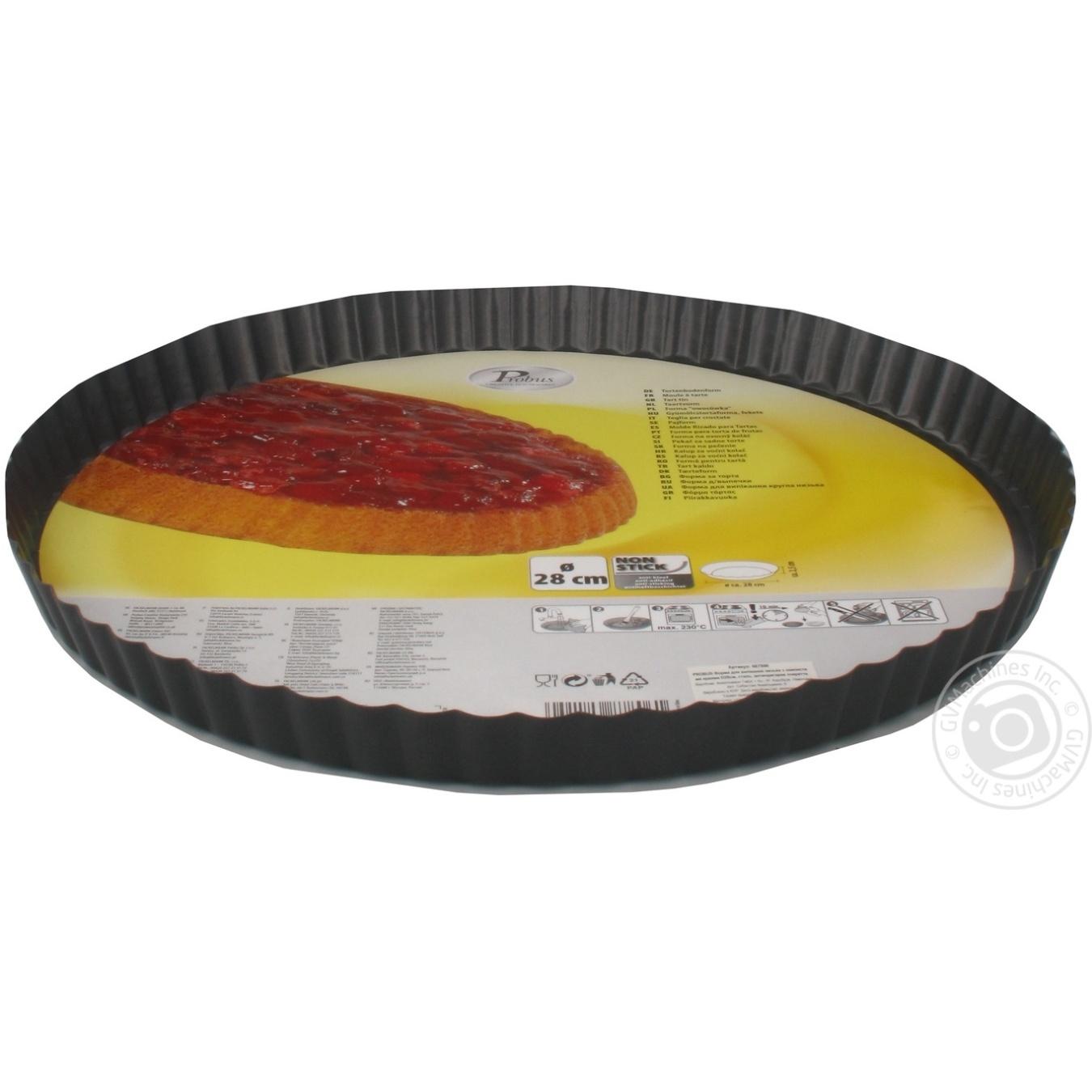 Купить Форма для выпечки Fackelmann круглая стальная низкая с гофрированными стенками 28см