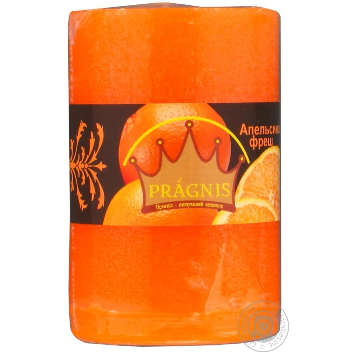 Купить Свеча Pragnis цилиндр апельсиновый фреш 55х8см