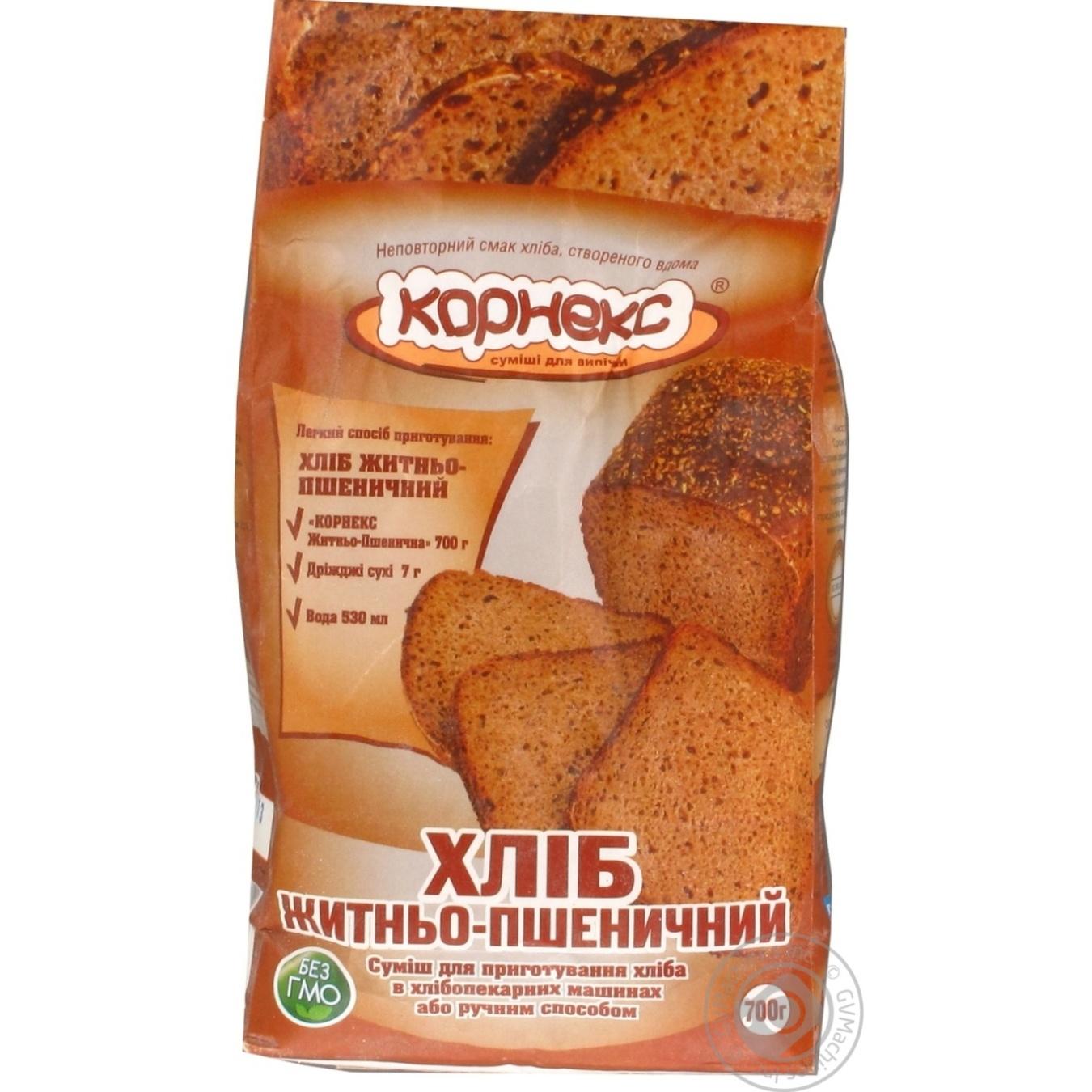 Купить Смесь Корнекс Хлеб Ржано-Пшеничный 700г