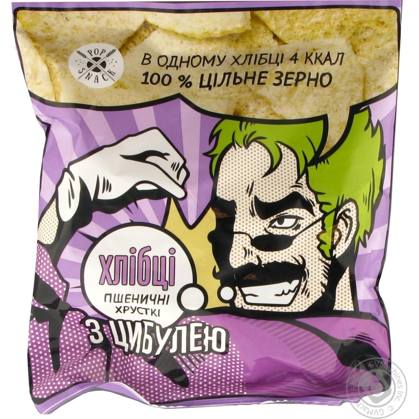 Купить Хлібці Pop Snack Пшеничні з цибулею 30г