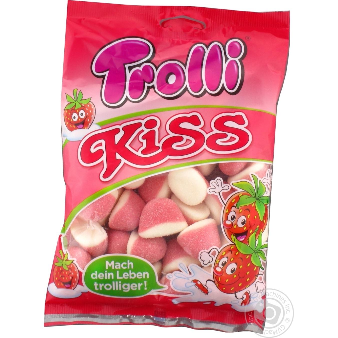 Купить Цукерки та батончики, Цукерки Trolli Полуничний цілунок фруктові жувальні 200г