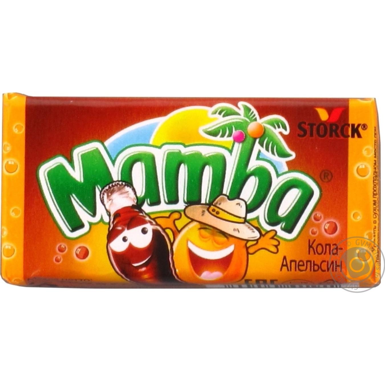 Купить Цукерки та батончики, Жувальні цукерки Mamba кола-апельсин 26, 5г