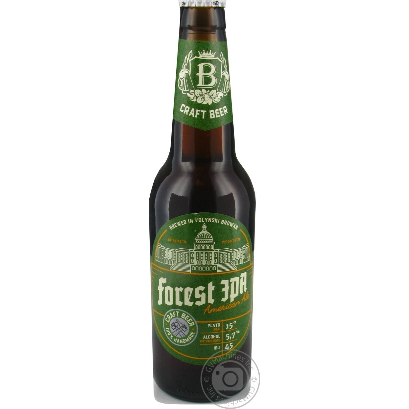 Пиво Волинський Бровар Forest IPA American Ale світле 5,7%0,35л