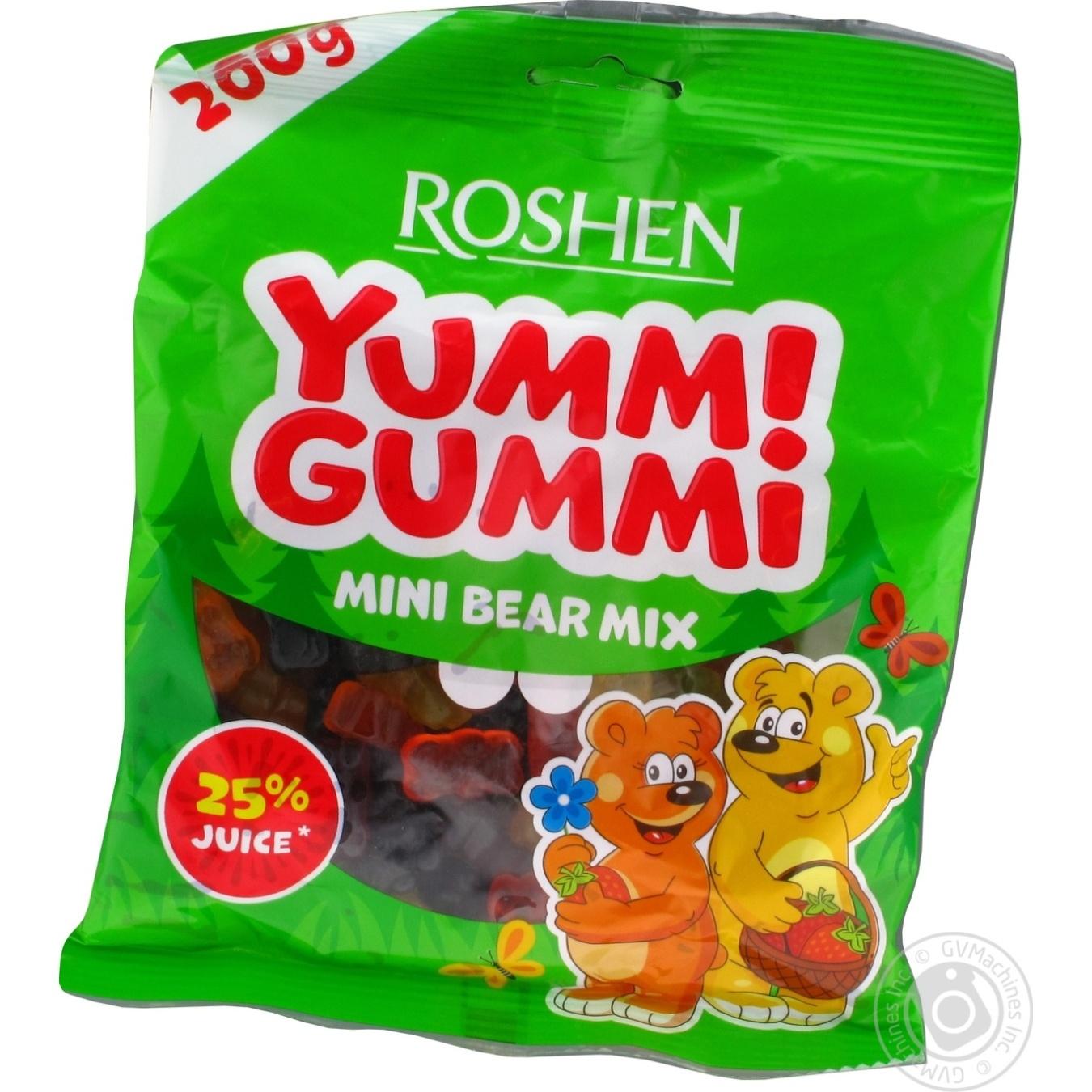 Купить Цукерки та батончики, Цукерки Roshen Yummi Gummi Mini Bear Mix 200г