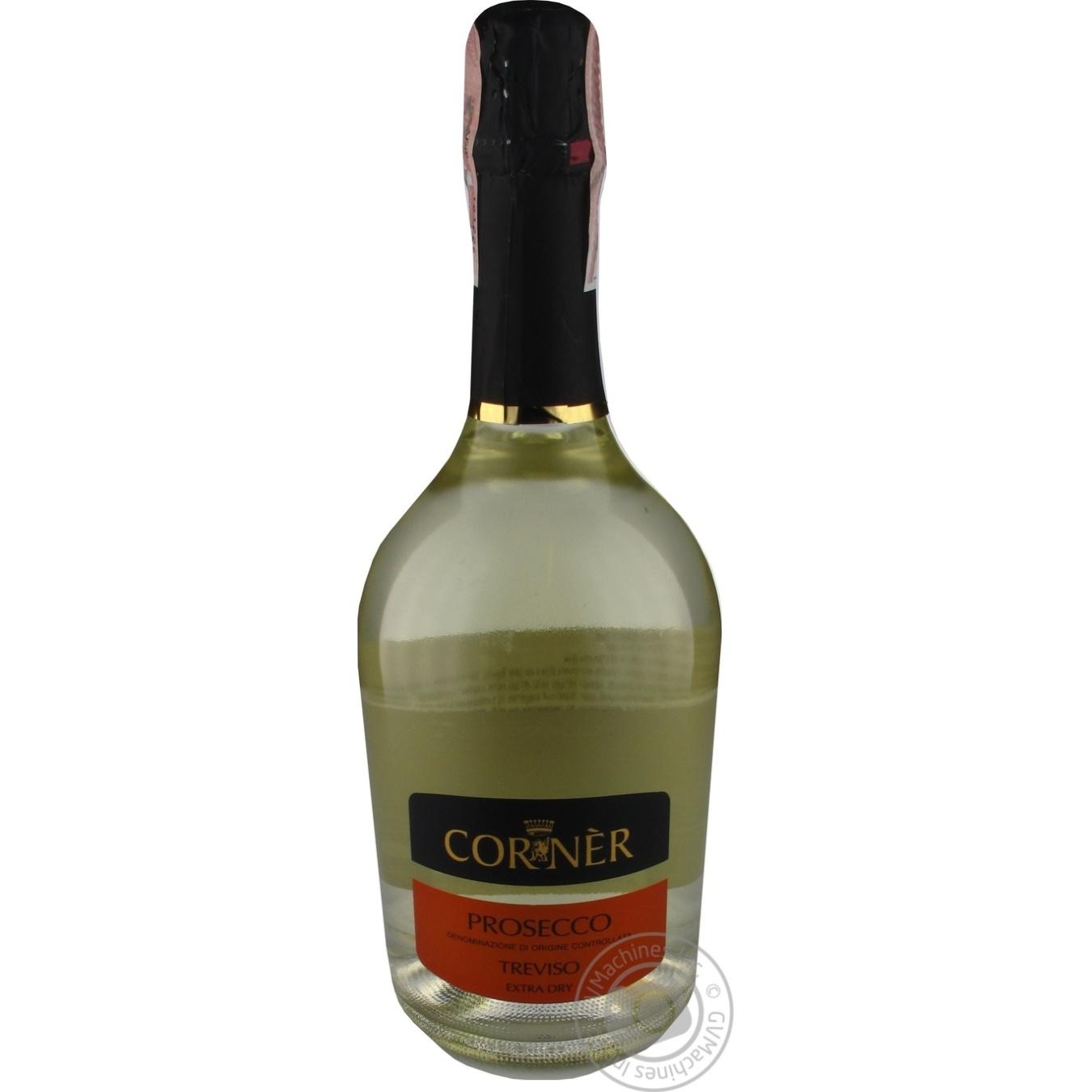 Купить Алкоголь та енергетики, CORNER PROSECCO EX.DRY 0, 75Л