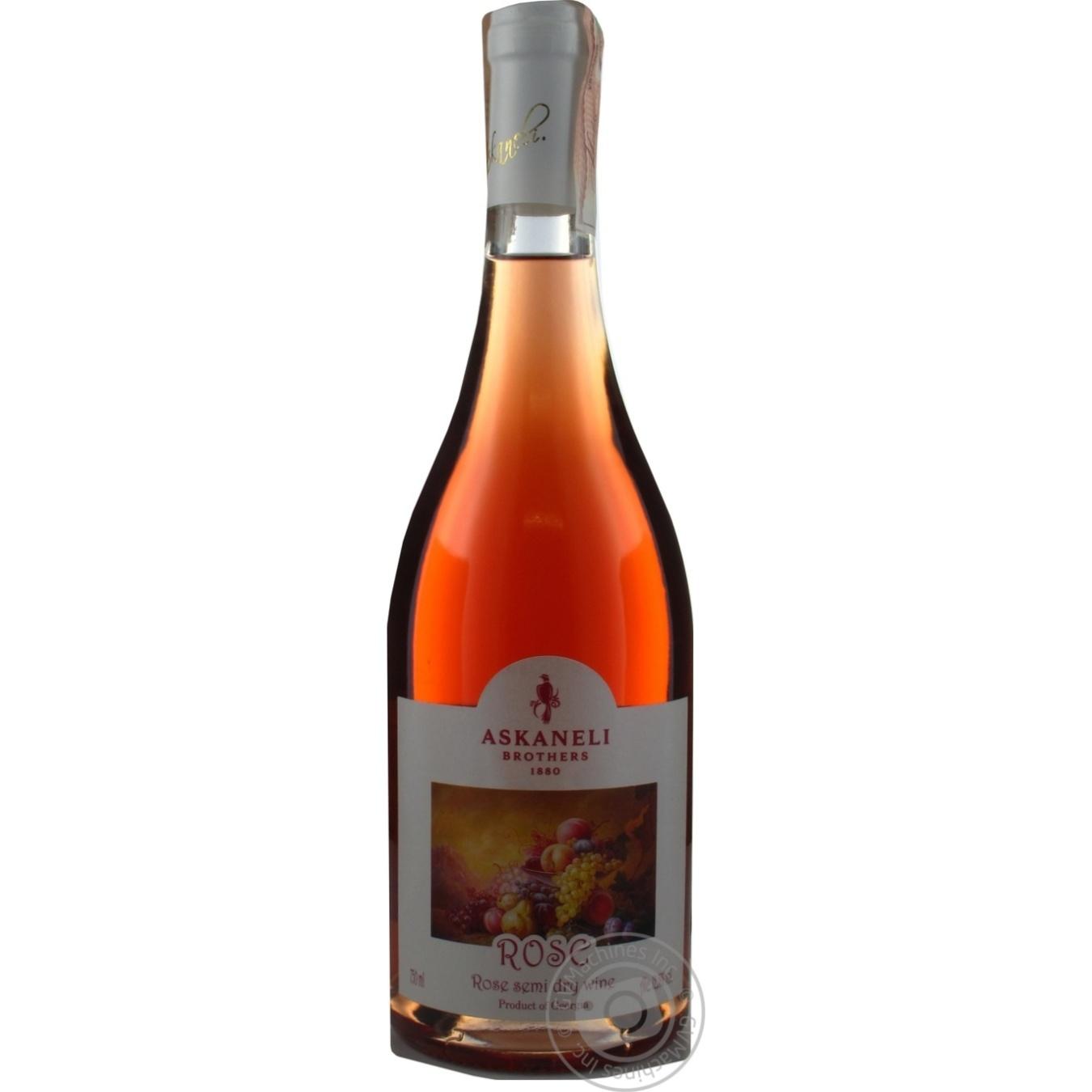 Вино Askaneli Brothers Rose рожеве напівсухе 12,5% 0,75л